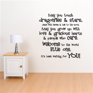 may you touch dragonflies & stars, dance with fairies and talk to the moon - Vinyl Wall Decal - Wall Quote - Wall Decor