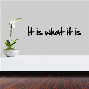 it is what it is - Vinyl Wall Decal - Wall Quote - Wall Decor