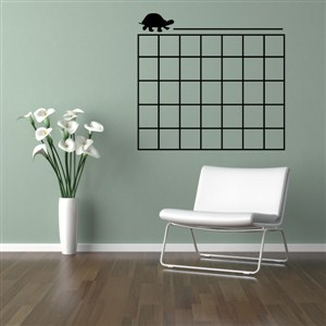 Turtle Calendar - Vinyl Wall Decal - Wall Quote - Wall Decor