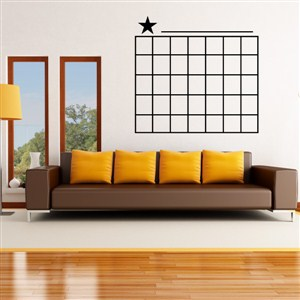 Star Calendar - Vinyl Wall Decal - Wall Quote - Wall Decor