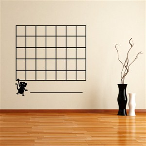 Monkey Calendar - Vinyl Wall Decal - Wall Quote - Wall Decor