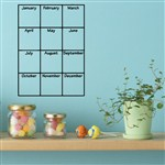 Monthly Calendar - Vinyl Wall Decal - Wall Quote - Wall Decor
