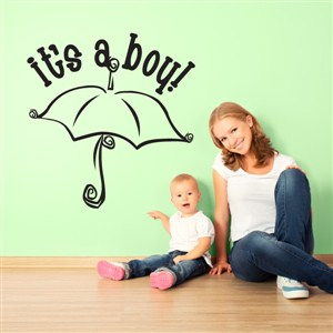 it's a boy! - Vinyl Wall Decal - Wall Quote - Wall Decor
