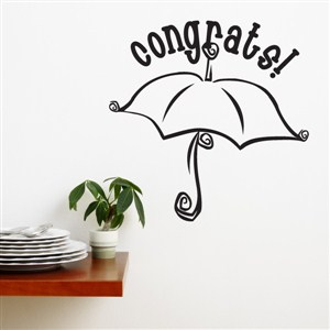 Congrats - Vinyl Wall Decal - Wall Quote - Wall Decor