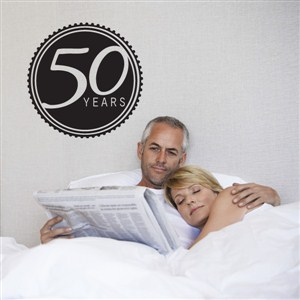 50 Years - Vinyl Wall Decal - Wall Quote - Wall Decor