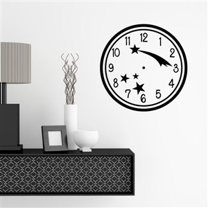Wall Clock Shooting Star - Vinyl Wall Decal - Wall Quote - Wall Decor