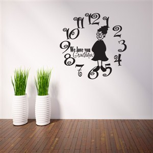 Wall Clock Grandma - Vinyl Wall Decal - Wall Quote - Wall Decor
