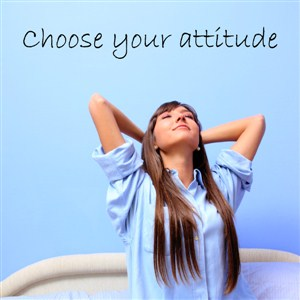 Choose your attitude - Vinyl Wall Decal - Wall Quote - Wall Decor