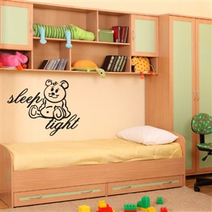 Sleep tight - Vinyl Wall Decal - Wall Quote - Wall Decor