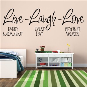 Live Laugh Love - Vinyl Wall Decal - Wall Quote - Wall Decor