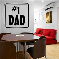 #1 Dad - Vinyl Wall Decal - Wall Quote - Wall Decor
