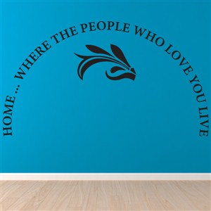 Home… Where the people who love you live - Vinyl Wall Decal - Wall Quote - Wall Decor