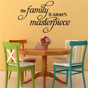 The family is nature's masterpiece - Vinyl Wall Decal - Wall Quote - Wall Decor