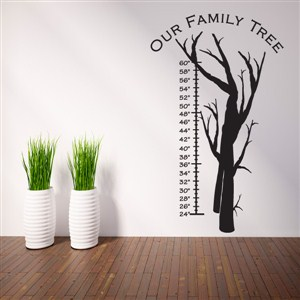 Growth Chart Family Tree - Vinyl Wall Decal - Wall Quote - Wall Decor