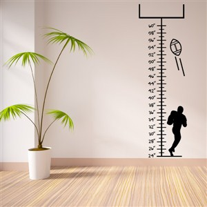 Growth Chart Football - Vinyl Wall Decal - Wall Quote - Wall Decor