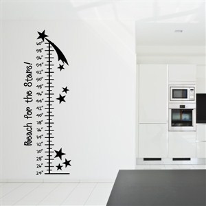 Growth Chart Stars - Vinyl Wall Decal - Wall Quote - Wall Decor