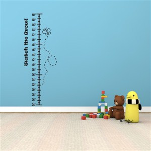 Growth Chart Butterfly - Vinyl Wall Decal - Wall Quote - Wall Decor