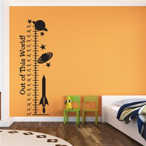 Growth Chart Universe - Vinyl Wall Decal - Wall Quote - Wall Decor