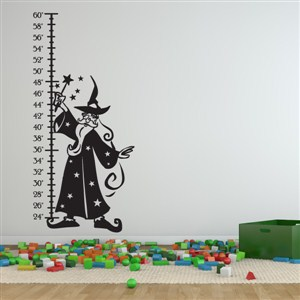 Growth Chart Wizard - Vinyl Wall Decal - Wall Quote - Wall Decor