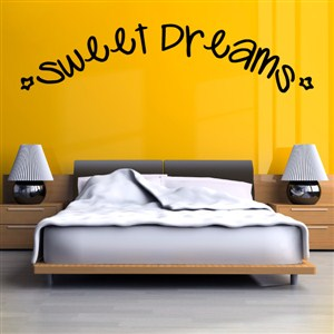 Sweet Dreams - Vinyl Wall Decal - Wall Quote - Wall Decor