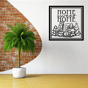 Home sweet home - Vinyl Wall Decal - Wall Quote - Wall Decor