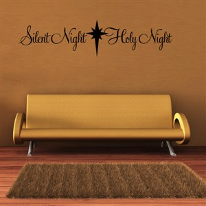 Silent night Holy night - Vinyl Wall Decal - Wall Quote - Wall Decor