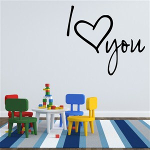I heart you - Vinyl Wall Decal - Wall Quote - Wall Decor