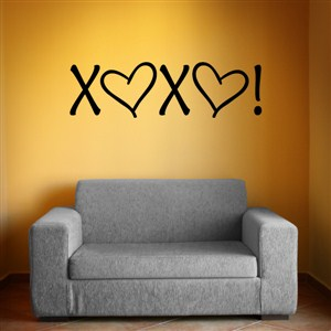 XOXO - Vinyl Wall Decal - Wall Quote - Wall Decor