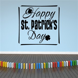 Happy St. Patrick's Day! - Vinyl Wall Decal - Wall Quote - Wall Decor