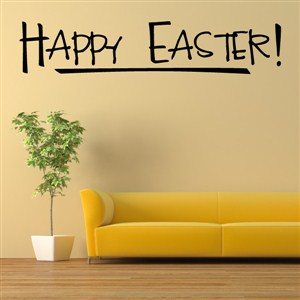Happy Easter! - Vinyl Wall Decal - Wall Quote - Wall Decor