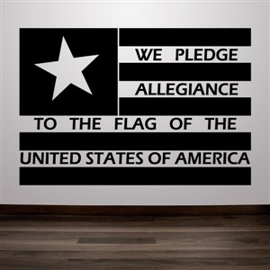 We pledge allegiance to the flag - Vinyl Wall Decal - Wall Quote - Wall Decor