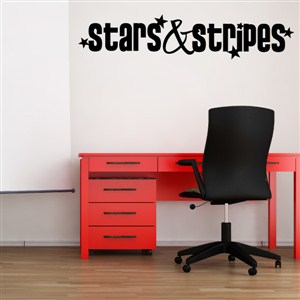 Stars & Stripes - Vinyl Wall Decal - Wall Quote - Wall Decor