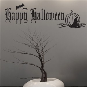 Happy Halloween - Vinyl Wall Decal - Wall Quote - Wall Decor