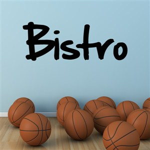 Bistro - Vinyl Wall Decal - Wall Quote - Wall Decor