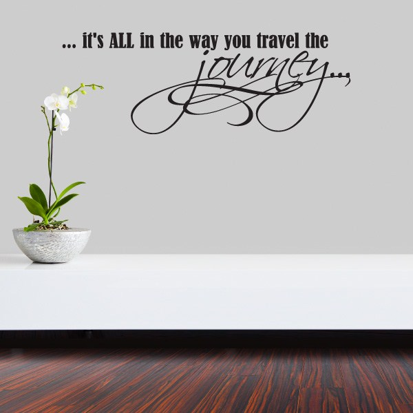 Vinyl Wall Decal - · View Larger Photo  sc 1 st  Wall Slicks & itu0027s all in the way you travel the journeyu2026 - Vinyl Wall Decal ...