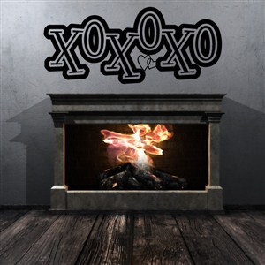 XOXOXO - Vinyl Wall Decal - Wall Quote - Wall Decor