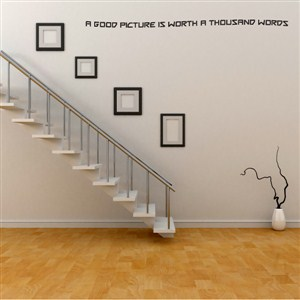 A good picture is worth a thousand words - Vinyl Wall Decal - Wall Quote - Wall Decor