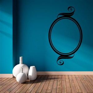 Swirl Picture Frame - Vinyl Wall Decal - Wall Quote - Wall Decor