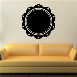 Petal Frame - Vinyl Wall Decal - Wall Quote - Wall Decor