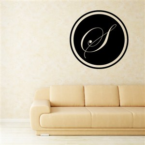 Circle Frame Monogram - S - Vinyl Wall Decal - Wall Quote - Wall Decor