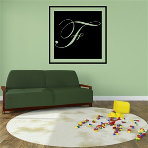 Square Frame Monogram - F - Vinyl Wall Decal - Wall Quote - Wall Decor