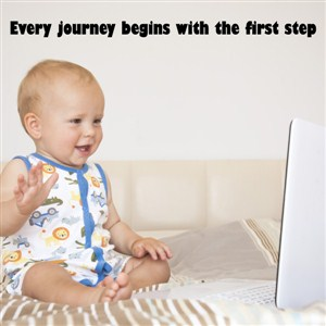 Every journey begins with the first step - Vinyl Wall Decal - Wall Quote - Wall Decor