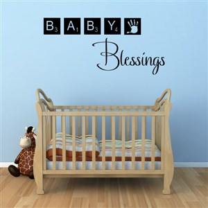 Baby Blessings - Vinyl Wall Decal - Wall Quote - Wall Decor