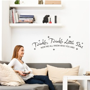 Twinlw, twinkle, little star now we all know who you are! - Vinyl Wall Decal - Wall Quote - Wall Decor