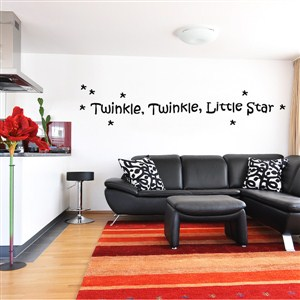 Twinkle, twinkle, little star - Vinyl Wall Decal - Wall Quote - Wall Decor