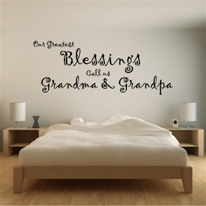 Our greatest blessings call us grandma & grandpa