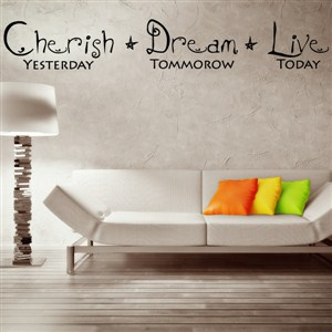Cherish yesterday dream tomorrow live today