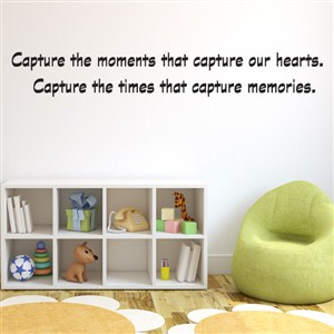 Capture the moments that capture our hearts. Capture the times