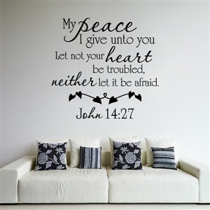 My peace I give unto you Let not your heart be troubled - John 14:27