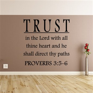 Trust in the lord with all thine heart and he shall direct thy paths - Proverbs 3:5-6